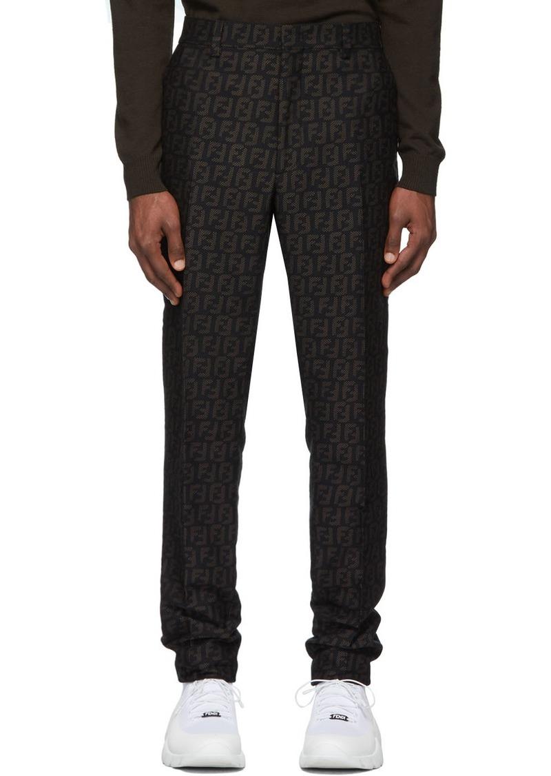 Black 'Forever Fendi' Trousers