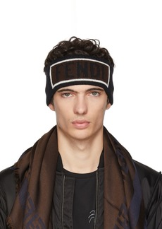Fendi Black Logo Headband