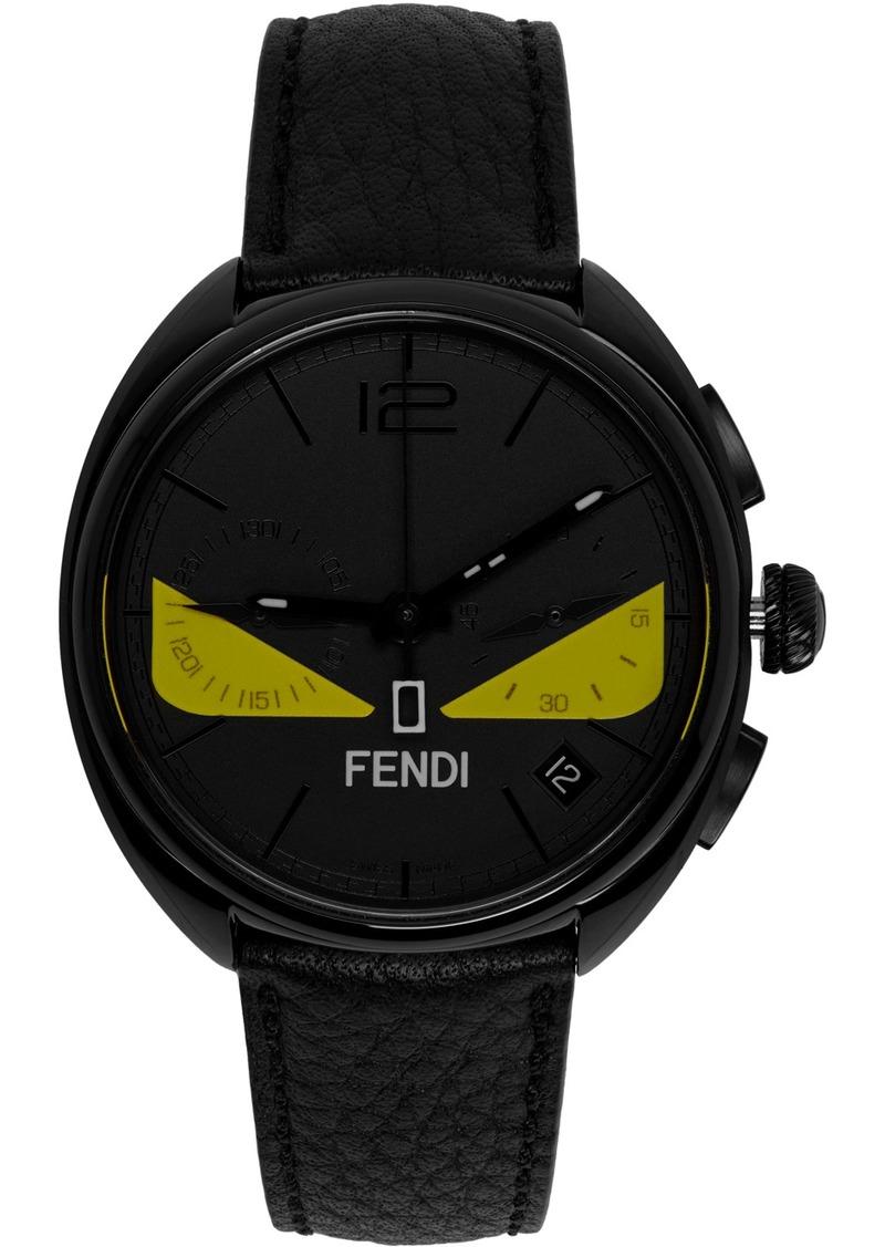 Black 'Momento Fendi' Bugs Chronograph Watch