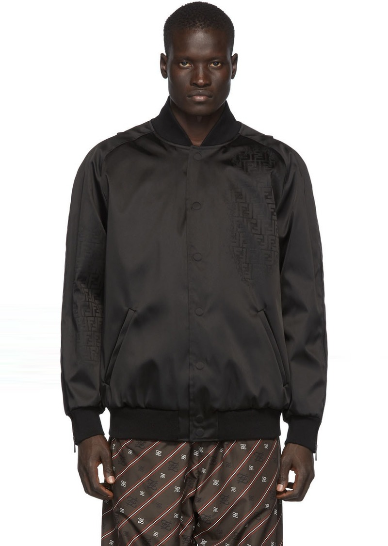 Black Nylon 'Forever Fendi' Bomber Jacket