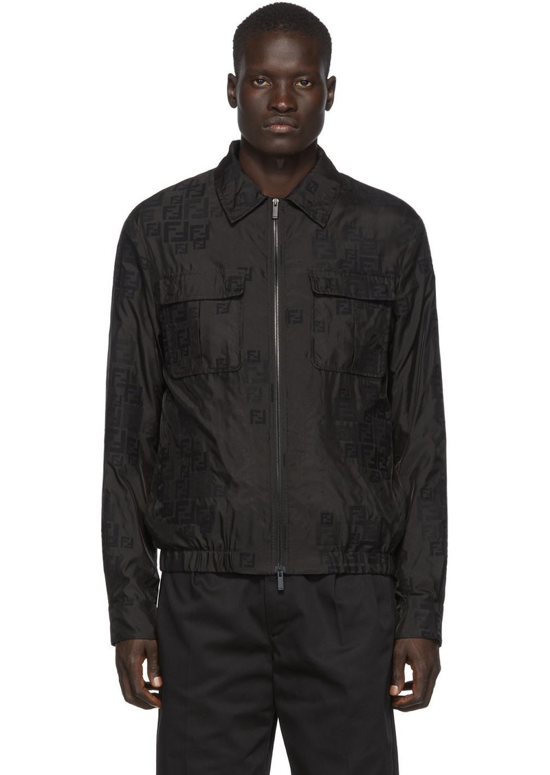 Fendi Black Organza Removable Jacket