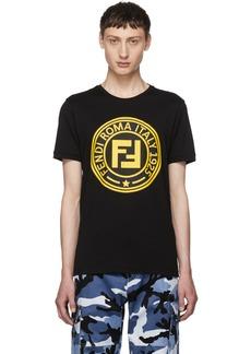 Fendi Black 'Roma' Logo T-Shirt