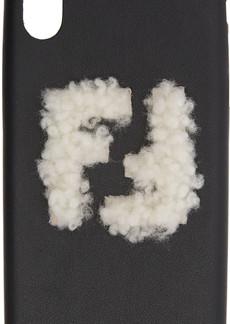 Black Shearling 'Forever Fendi' iPhone X Case