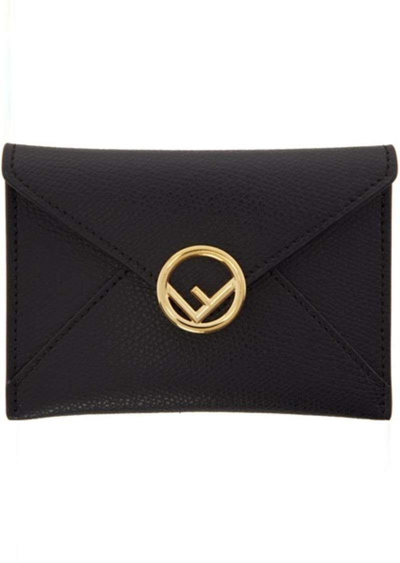 Black Small 'F is Fendi' Envelope Card Holder