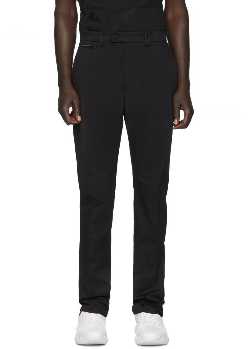Fendi Black Stretch Chino Trousers