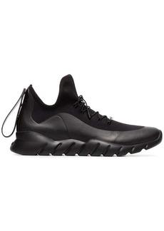Fendi black technical knit high-top sneakers