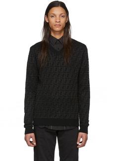 Black Wool 'Forever Fendi' Sweater