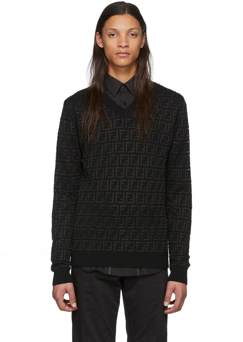 Black Wool 'Forever Fendi' Sweater