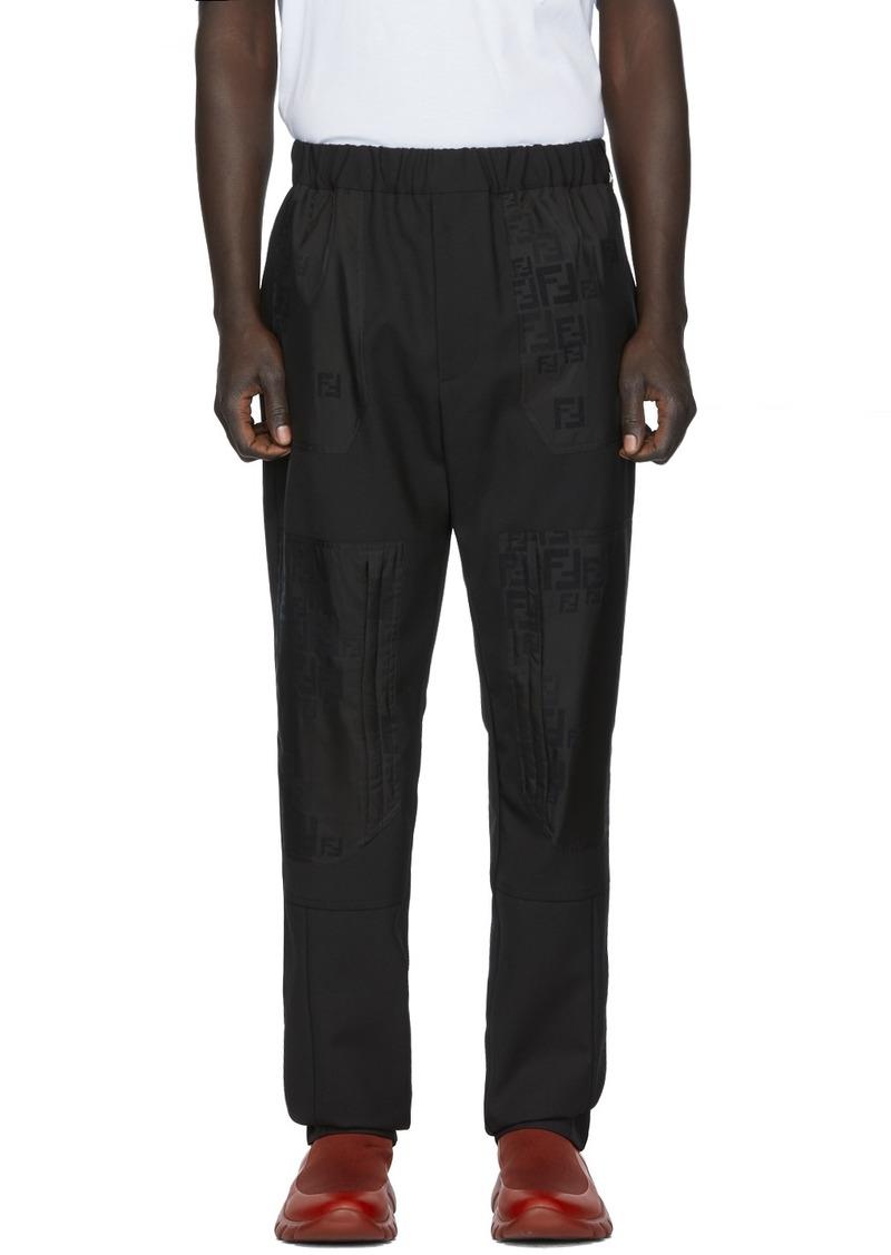Black Wool 'Forever Fendi' Trousers