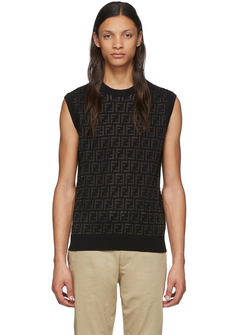 Black Wool 'Forever Fendi' Vest