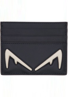 Fendi Blue & White 'Bag Bugs' Card Holder