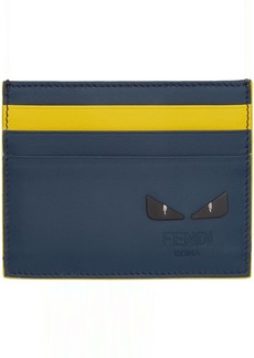 Fendi Blue & Yellow 'I See You' Card Holder