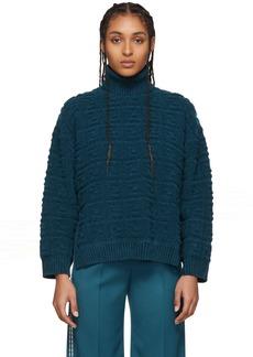 Blue 'Forever Fendi' Embossed Sweater