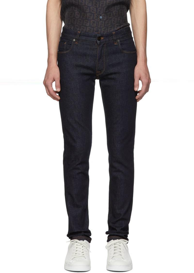 Blue 'Forever Fendi' Pocket Jeans