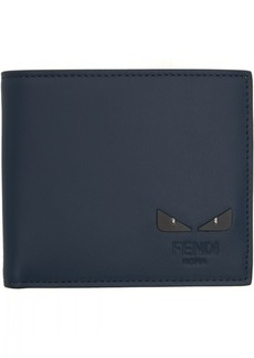 Fendi Blue 'I See You' Bifold Wallet