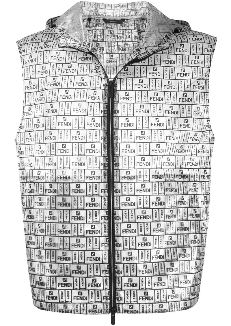 Fendi box logo pattern gilet