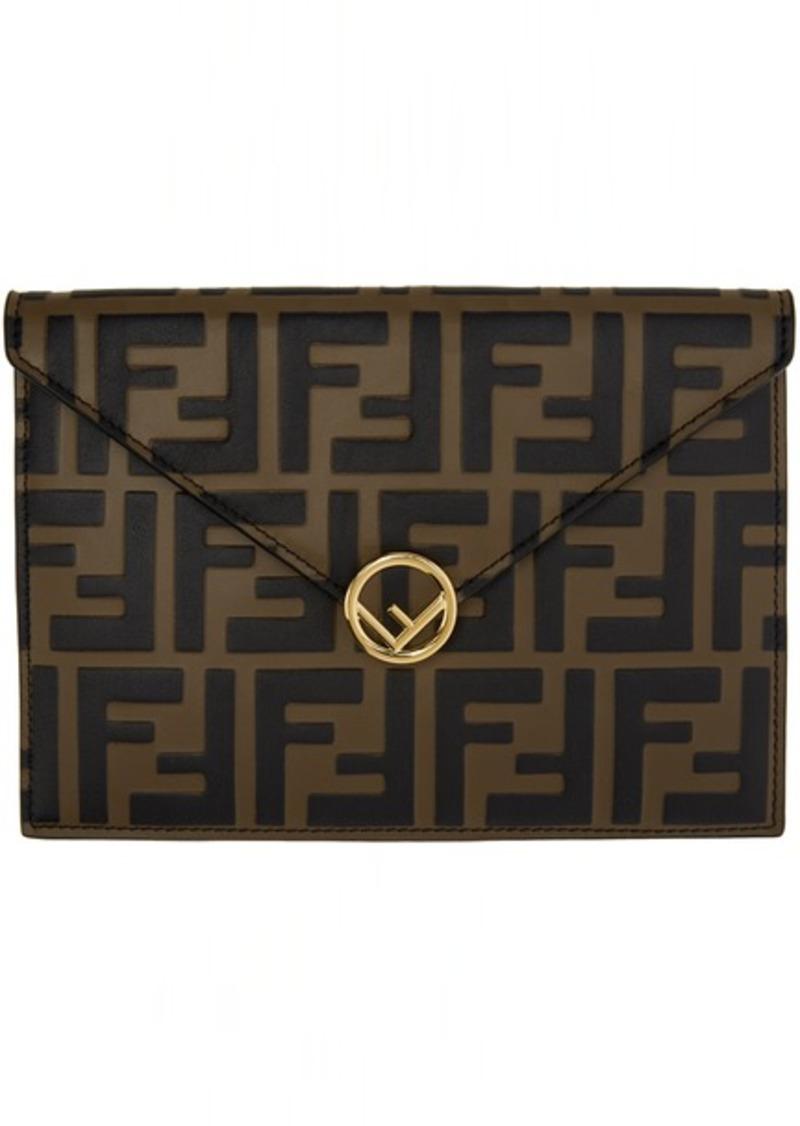 Brown & Black 'Forever Fendi' Envelope Pouch