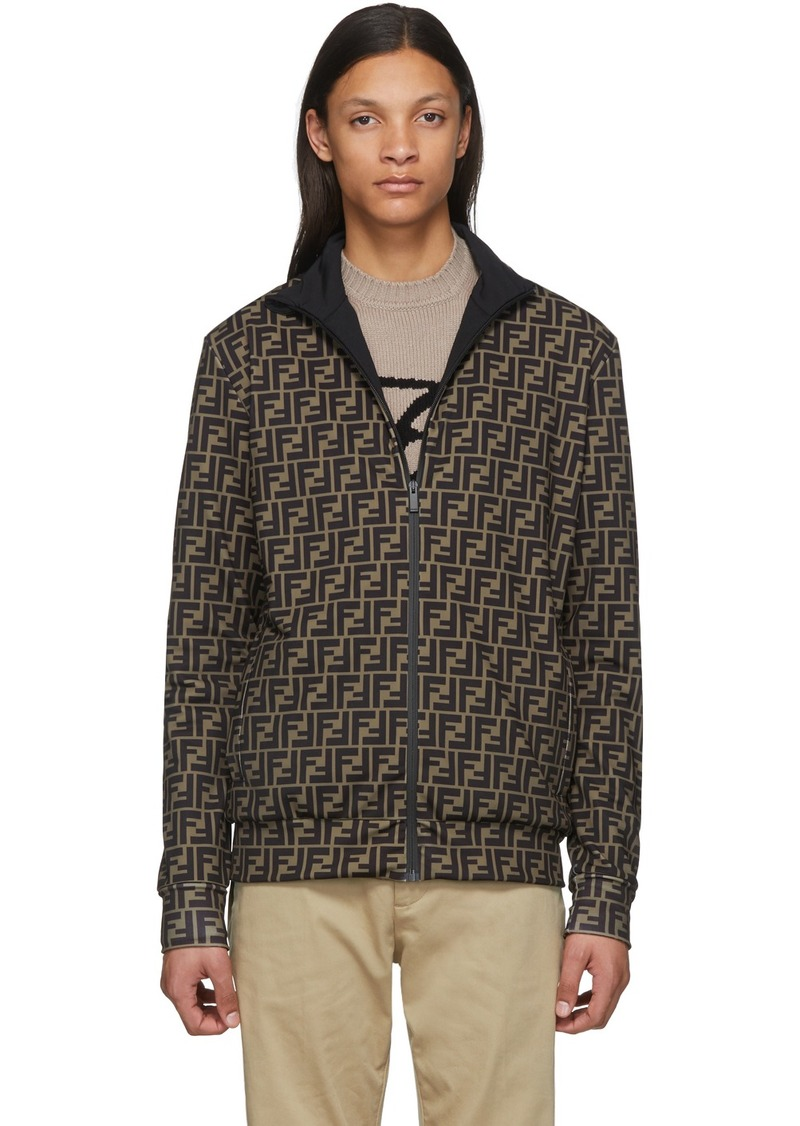 Brown & Black 'Forever Fendi' Track Jacket