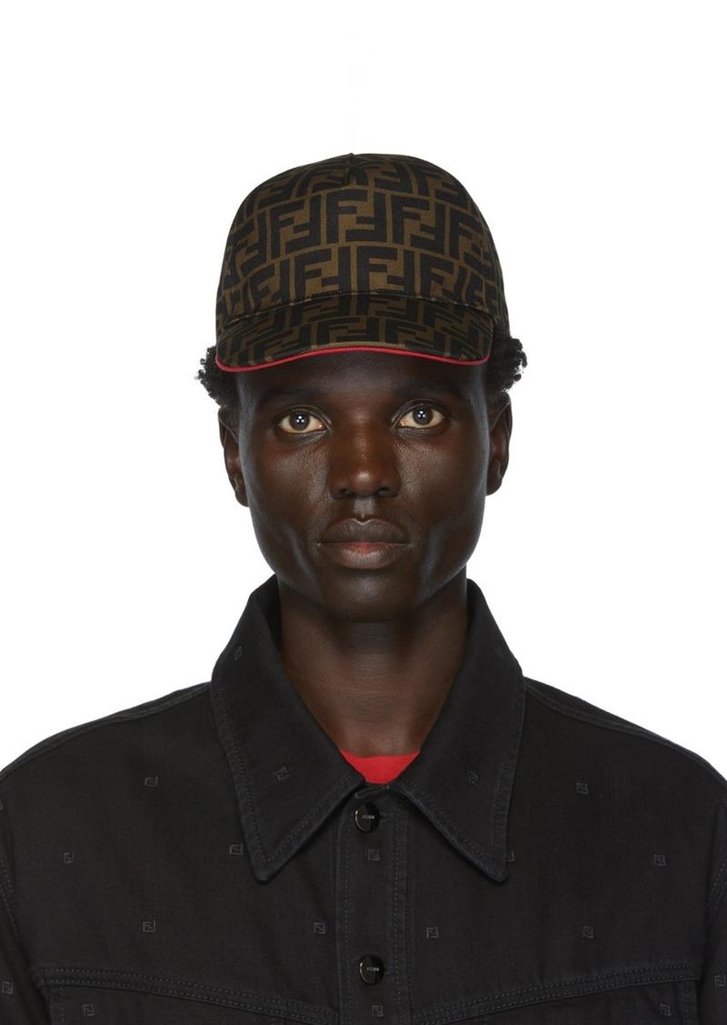Brown & Red 'Forever Fendi' Cap