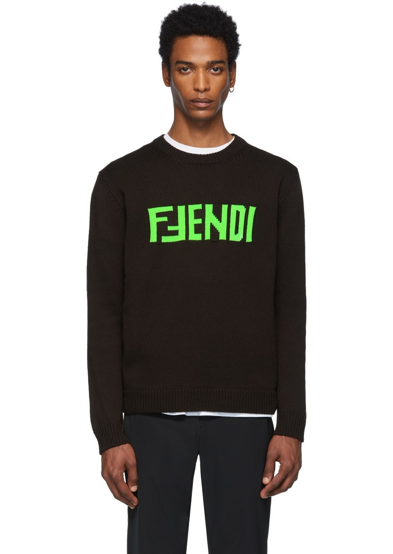 Brown 'F Fendi' Sweater