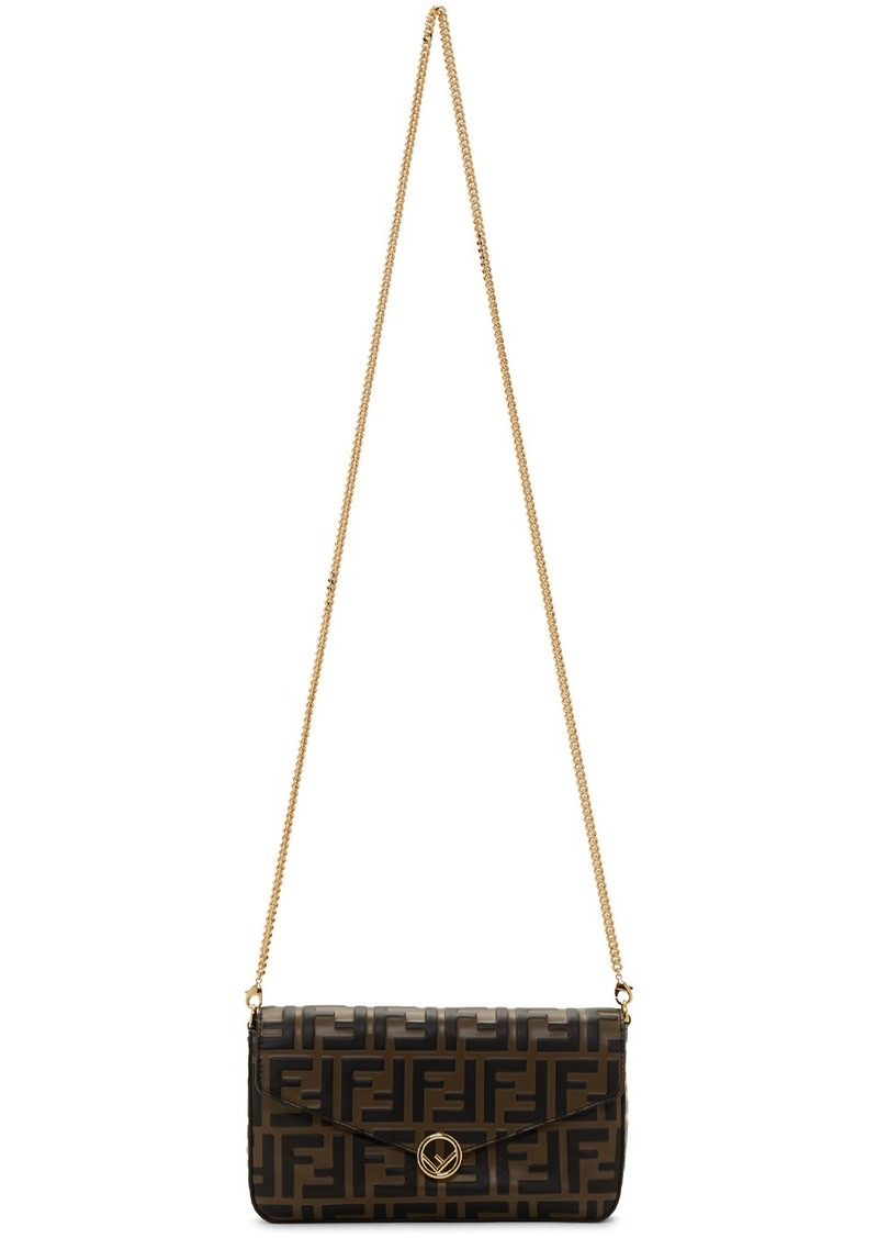 Brown 'Forever Fendi' Envelope Bag