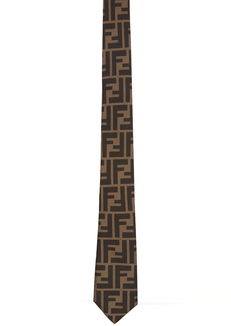 Brown 'Forever Fendi' Tie