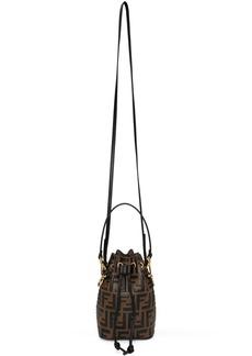 Brown Mini 'Forever Fendi' Mon Trésor Bucket Bag