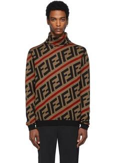 Brown Wool 'Forever Fendi' Turtleneck