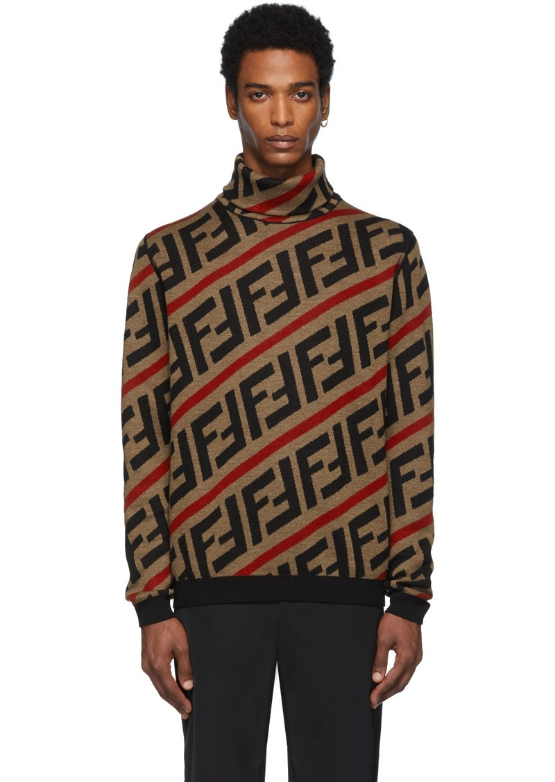 Brown Wool 'Forever Fendi' Turtleneck