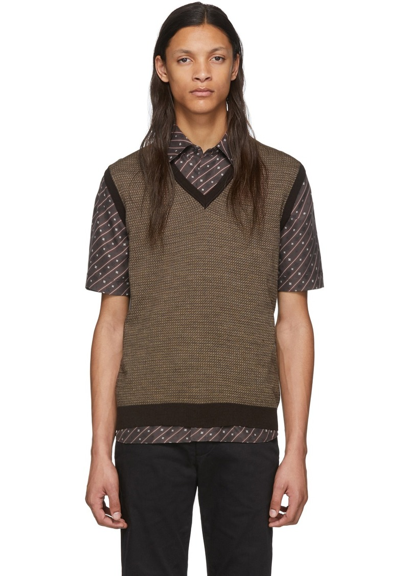 Brown Wool 'Forever Fendi' Vest