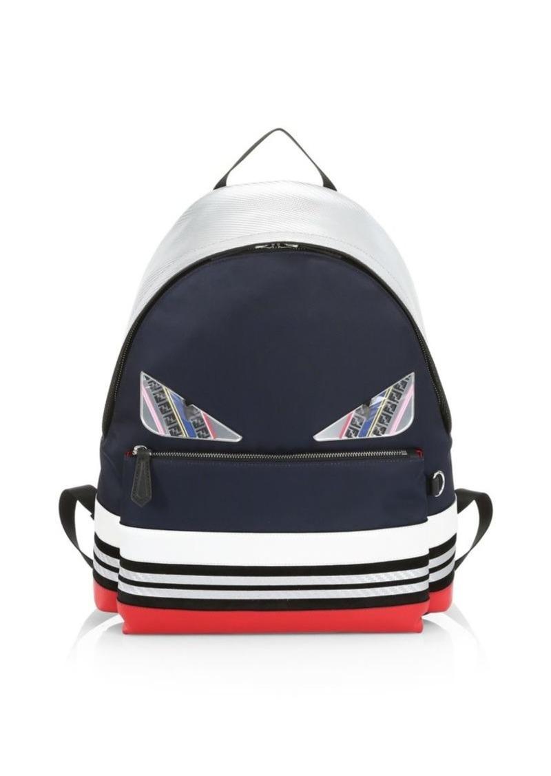 41f873885226 Fendi Bugs Colorblock Striped Backpack