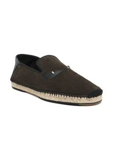 Fendi Bugs Face Suede Slip-On Espadrille Sneakers