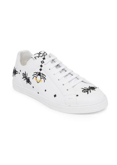 Fendi Bugs Leather Sneakers