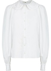 Fendi button-front ruffled blouse