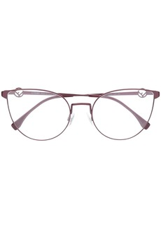 Fendi cat-eye frame glasses