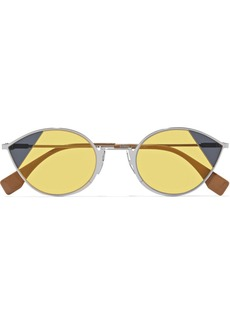 Fendi Cat-eye Silver-tone Sunglasses