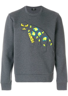 Fendi cat logo patch sweatshirt