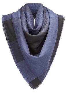 Fendi check logo scarf