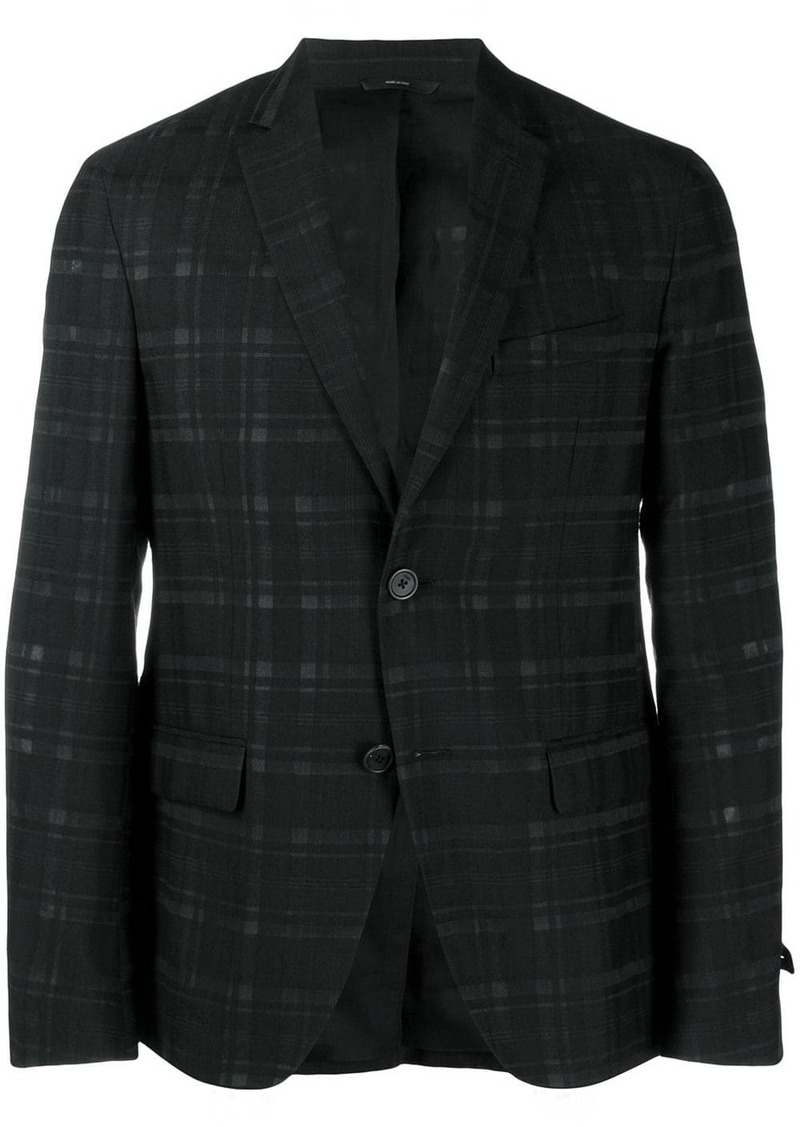 Fendi chequerboard deconstructed jacket
