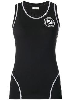 Fendi chest logo tank top