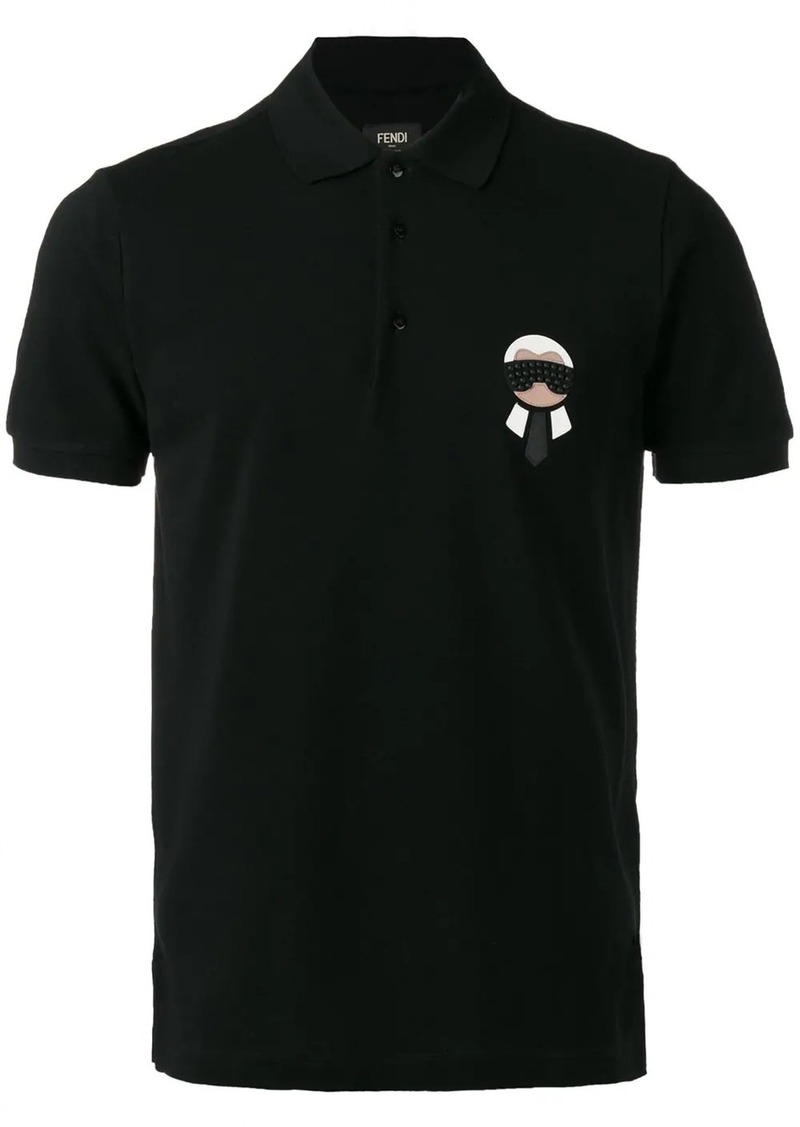 Fendi chest plaque polo shirt