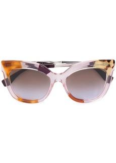 Fendi clear frame sunglasses