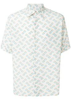 Fendi Coffee-print short sleeve shirt