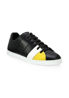Fendi Colorblock Leather Low-Top Sneakers