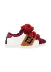 Fendi contrast low-top sneakers
