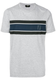 Fendi contrast panel logo T-shirt