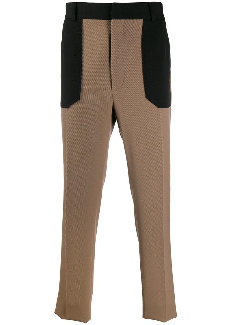 Fendi contrast pocket trousers