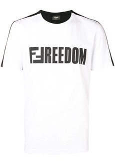 Fendi contrasting Freedom T-shirt