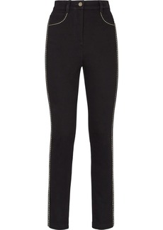 Fendi contrasting stitching skinny jeans