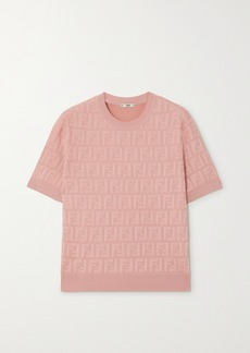 Fendi Cotton-blend Jacquard Top